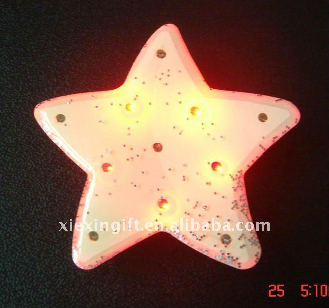 White Star Shaped LED Badge