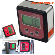 3buttons Precision digital protractor inclinometer Level box angle finder Bevel Box with magnet base hold function