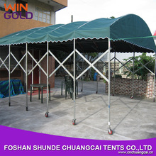 8x14m steel aluminum alloy portable folding car canopy garage