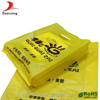 customer packaging type die cut handle plastic bags