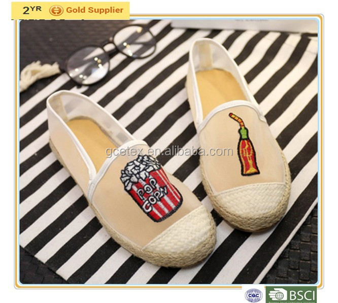 GCE1437 Fahion classic wholesale canvas slip-on ladies shoes bangkok