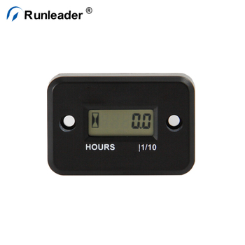 Runleader Digital Inductive Waterproof LCD Hour Meter For Gasoline Engine Motorcycle Snowmobile ATV Chainsaw Generator Boat