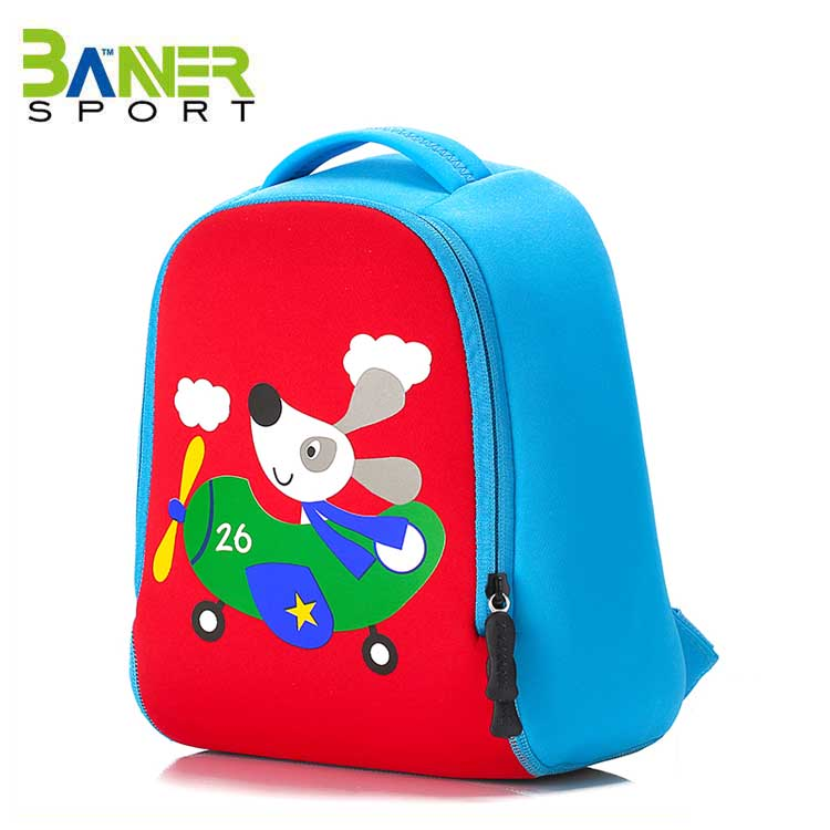 Waterproof Neoprene Kids Backpack Children girl trolley school bag
