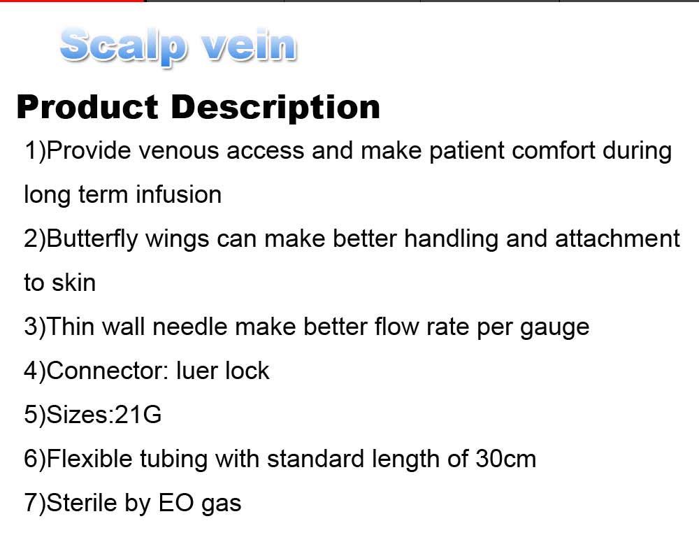 safety butterfly needle scalp vein sets