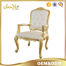 Gold leaf white louis chair for wedding
