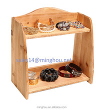 Tabletop Home Storage Organizer Shelves Decorative Kitchen 2 Tier Wooden Spice Rack