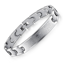 China wholesale 316L stainless steel jewelry stainless steel bracelet cross engravable blanks