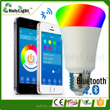 Top sale Music colorful smart light bulb rgbw led chip wifi smart bulb