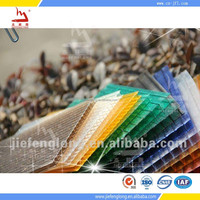construction materials twin wall polycarbonate sheet roofing panel