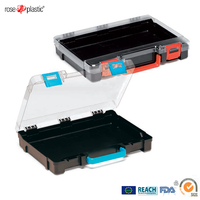 Solid durable hard large plastic portable case with labelling printing service Rose Cassette