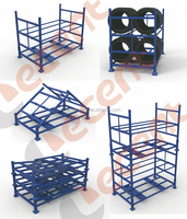 Hot Sale High Quality Heavy Duty Warehouse Metal Foldable Tire Stack Storage Rack
