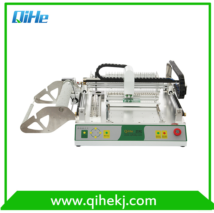 QIHE TVM802D two cameras automatic LED pick and place machine