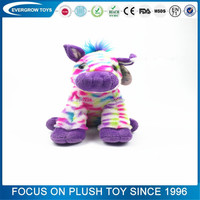 hot sale custom sitting colorful horse toy stuffed plush toy