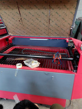 CO2 laser cutting seat trim,seat back bed DW 1318 with double laser head