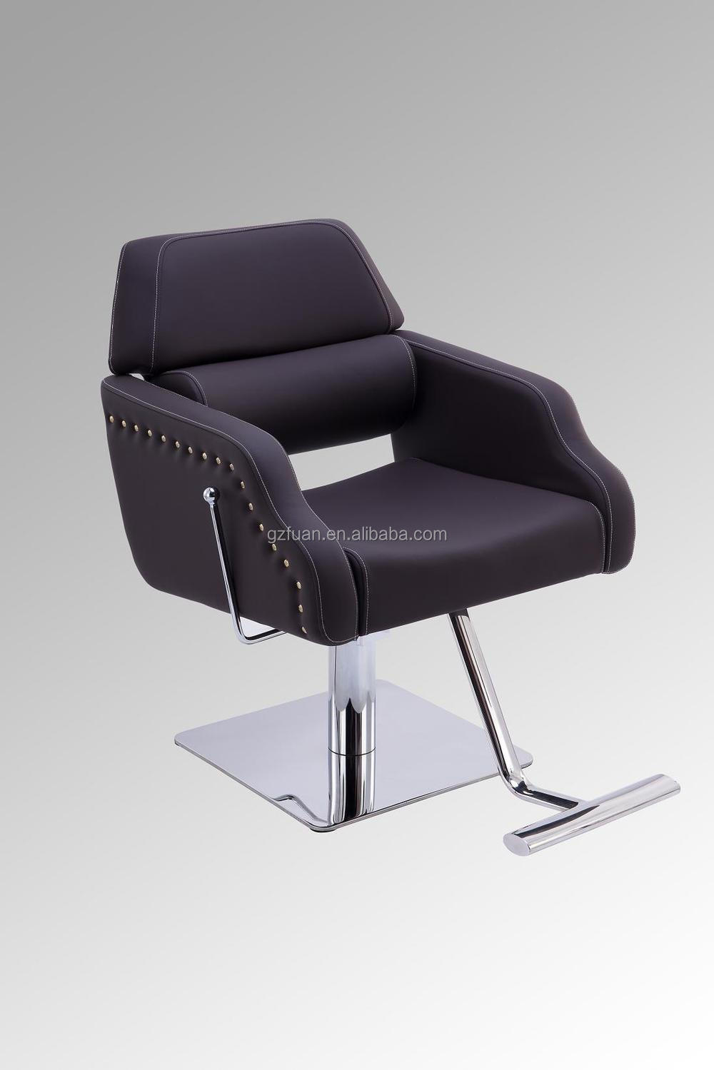 Portable salon styling chair with wood armrest my 007 73 for Portable beauty chair