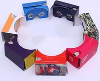 3D vr Google cardboard VR Glasses with Custom Logo paper Print 3d glasses, OEM order are welcome