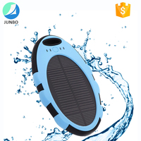 high quality 5000mah waterproof power bank charger for mobile phone universal portable solar powerbank