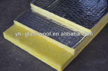 Heat insulation glass wool board yellow rigid fiberglass for Fiber wool insulation