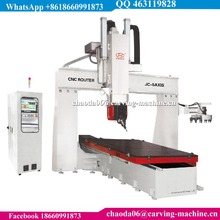 Italy HSD 10kw 15kw Spindle C Axis +/-245 Degree ATC 3D CNC 5 Axis Wood Carving Machine, CNC 5 Axis Router