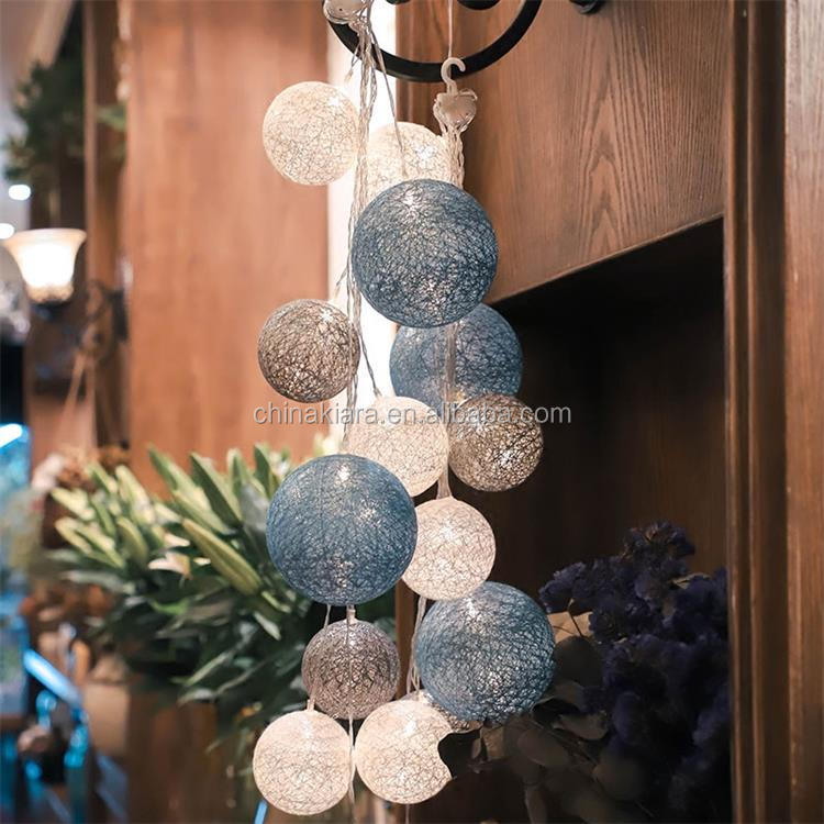 Factory Price 10L 20L Led Light Chain Cotton Balls String Lights
