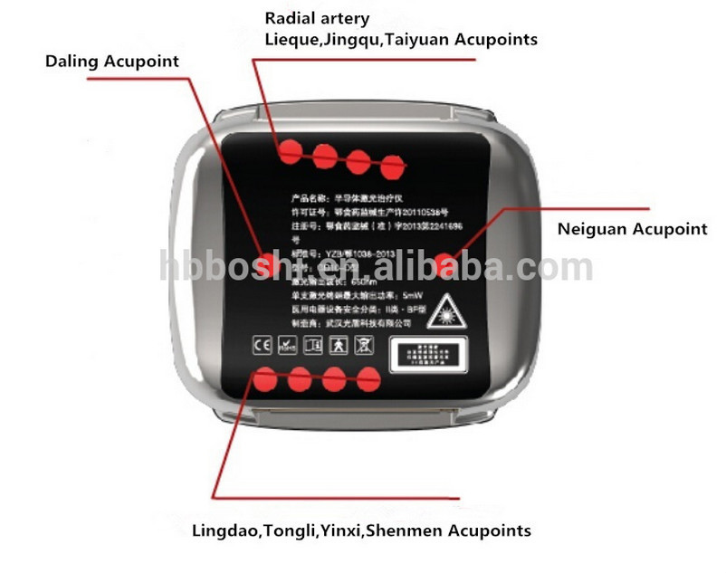 Traditional Chinese Medicine High quality wristwatch-type semiconductor laser therapy watch