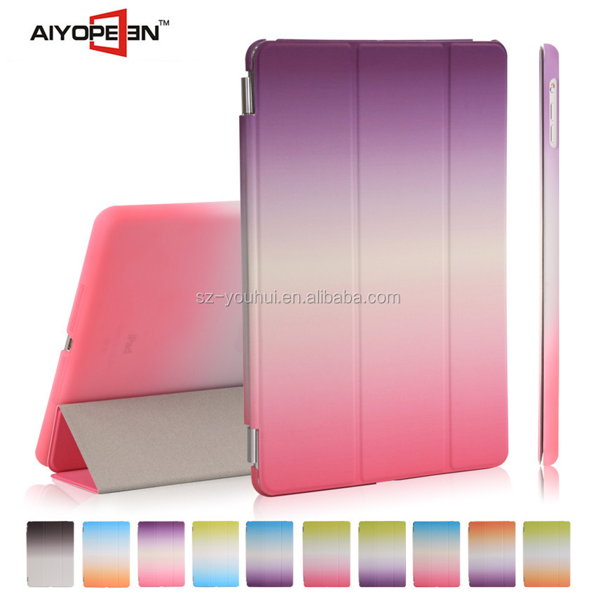 High Quality PU smart cover case tablet smart case for iPad mini 4 Tablet