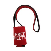 Promotional 3MM Foldable Neoprene Beer Can Holders With Straps