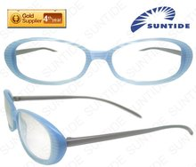 Baby Blue Acetate Spectacle Frame with Aluminum legs (D4910)