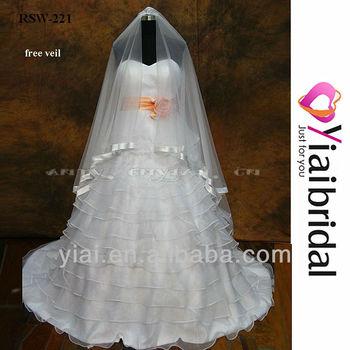 Rsw221 orange and white wedding dresses buy wedding for White and orange wedding dress