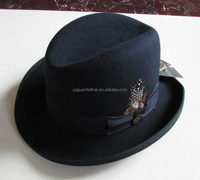 China factory wholesale wool felt bowler derby hat .top hat .president hat