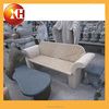 Natural granite stone and cast iron garden bench in india