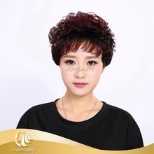 wholesale price short inch 2/99J mix color hair synthetic wig for women