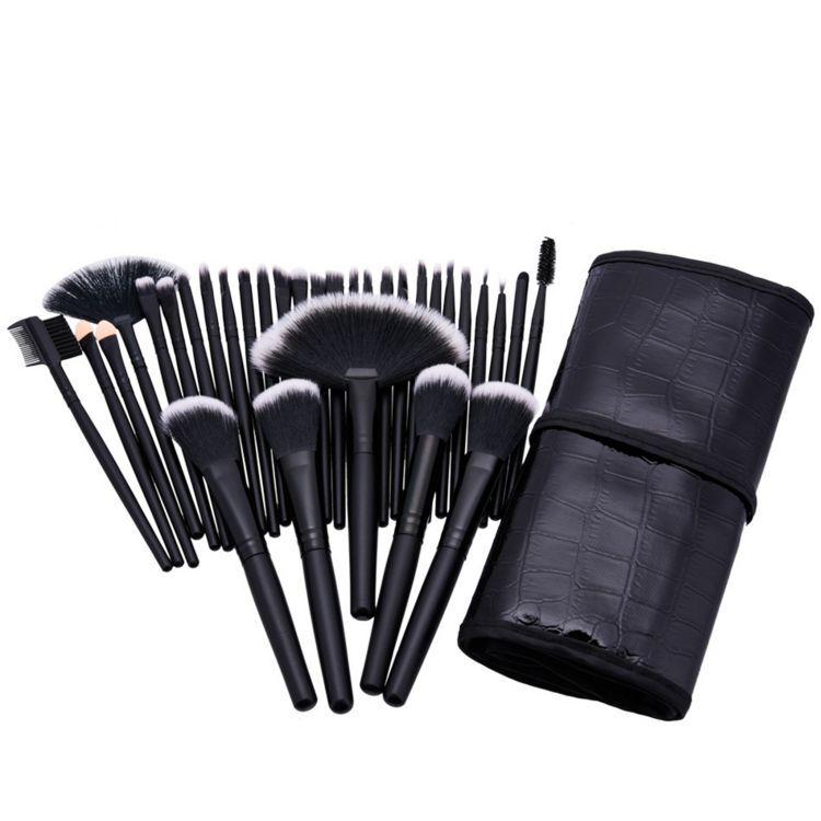 Hot sale 32pcs private label Multipurpose tool glitter oval makeup brush set