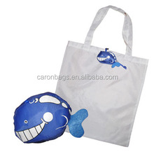 various cute animal shape foldable nylon shopping bag with cheap price