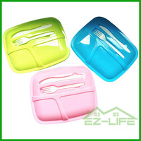 2016 colorful plastic new promotional kids lunch box ideas with lock lid