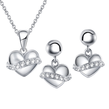 High Polished Silver 925 White Gold Jewelry Sets Women Custom Jewelry Set Bulk Sale in China