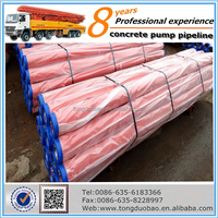 DN125 *3000mm Seamless Concrete Pump Pipe For Putzmeister