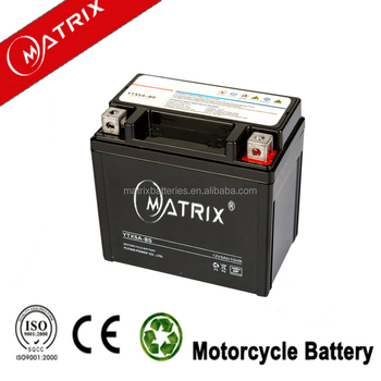 YTX5 motorcycle parts 12v 5ah motorcycle battery