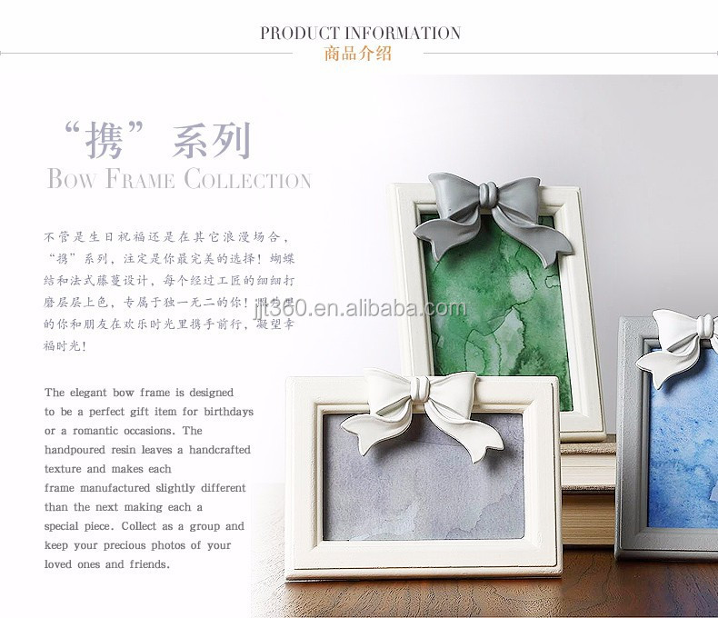 2017 New decorative Portability series gray white wooden photo frame