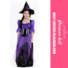 Accept small order wholesale cheap kids witches clothing halloween costume for children