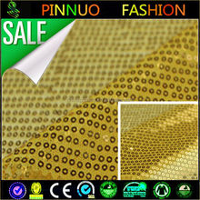 100% polyester net bottom fabric wholesale gold sequin fabric