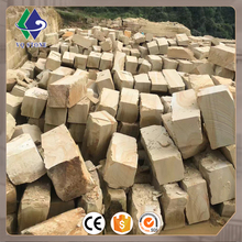 Big size wooden yellow sandstone price per ton