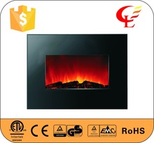 wooden front panel Wall mounted electric fireplace with CE certified