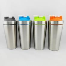 hot sell 304 stainless Steel 750ML Metal Protein Shaker Bottle with FDA certification