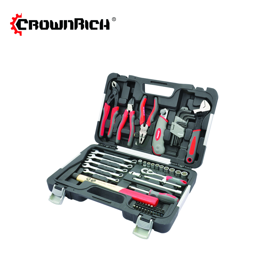 CROWNRICH 55pcs tools box set mechanic professional