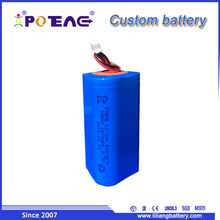 Portable 18650 6600mAh 3.7v cylinder lithium ion battery with PCM