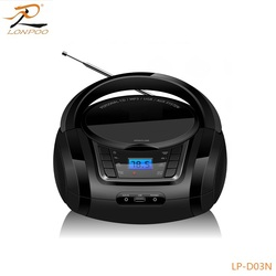 portable wireless CD Boombox with FM/Radio/USB port