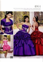 Custom Made High Quality Designer Sweet 16 Dresses Purple Taffeta Beaded Removable Skirt Ball Gowns Quinceanera Dresses