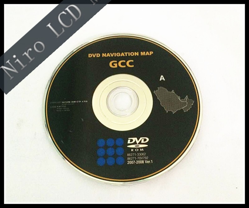 Free DHL Shipping New Original Car GCC DVD Navigation Map For Lexus GS (2007-2008) Middle-East Version A Series