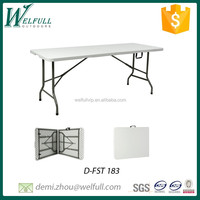 Heavy duty plastic fold in half 183CM banquet rectangle table